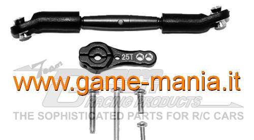 Black Alum. servo horn and ALUMINUM steering rod for TRX-4 by GPM