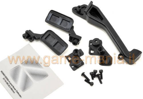 Nylon view mirrors and snorkel for TRX-4 by Traxxas