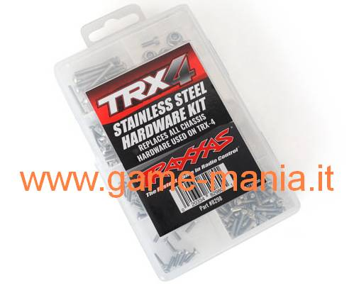 INOX steel complete screw set for TRX-4 by Traxxas