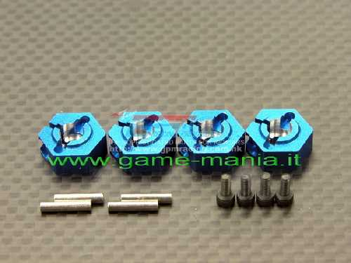 BLUE alloy 12mm wheel hexes for Vaterra Twin Hammers by GPM