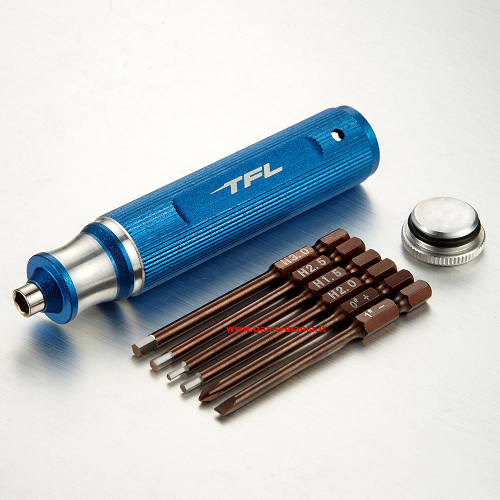 6 in1 metric screwdriver w/alu handle - steel inserts by TFL