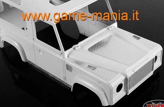 Pannellature IN LEGA x carrozzeria DEFENDER 90 in scala 1:10 by RC4WD