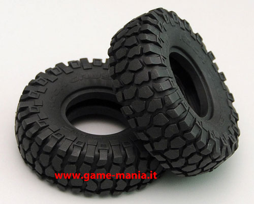 Coppia gomme 1.55 ROCK CRUSHER X/T con inserti mescola X3 by RC4WD