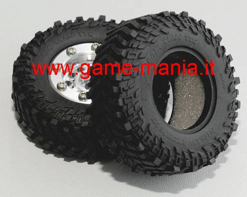 Coppia gomme 1.0 BAJA CLAW TTC per MICRO crawlers by RC4WD