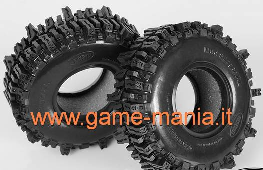 Coppia gomme 1.9 MUD SLINGERS 2 XL con inserti by RC4WD