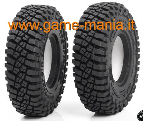 Pair of 1.9 BFGoodrich T/A KM3 tires with inserts by RC4WD
