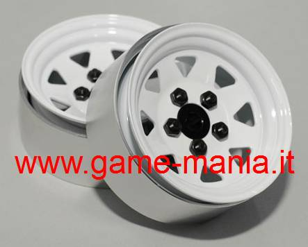 Cerchi 1.9 beadlock 5 LUGS in acciaio WHITE EDITION by RC4WD (x4)