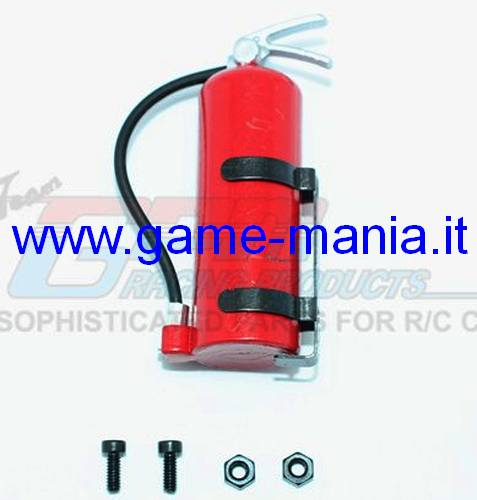 Red 1/10 scale fire extinguisher for model detailing by GPM