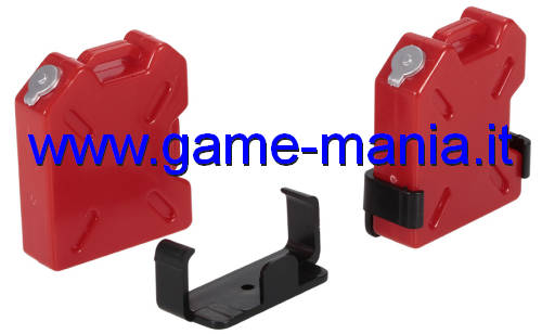 Red nylon 1/10 scale fuel tank and holder by GPM