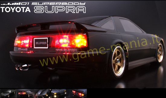 Clear 1980 Toyota Supra 3.0 Turbo w/headlights body by ABC Hobby