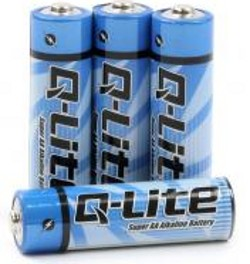 4 Batterie stilo AA ALCALINE 1,5V usa e getta by Q-lite