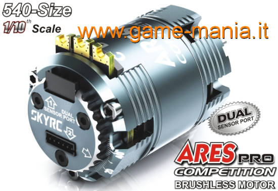 Motore brushless 2 poli SENSORED 11.5T - serie ARES PRO by SkyRC