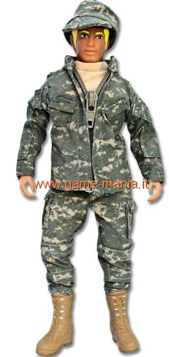 Figurino snodato per automodelli scala 1:10 ARMY by Mego