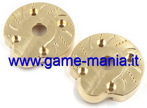 External BRASS portal covers (2x) for Axial Capra by XS