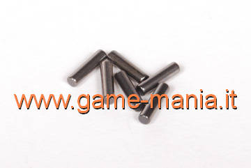 6x steel gear driver pins - 2x8mm. size - by Axial
