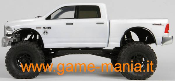 Clear Dodge Ram 2500 body with rear bed for 1/10 scalers by Axial