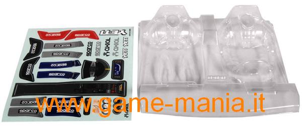 Clear lexan 1/10scale drivers and interior set by Axial