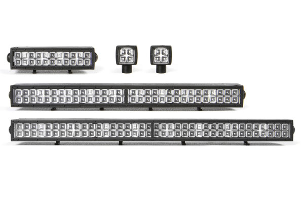 Set barre luci tetto 1:10 in nylon Rigid Industries a led non inclusi by Axial