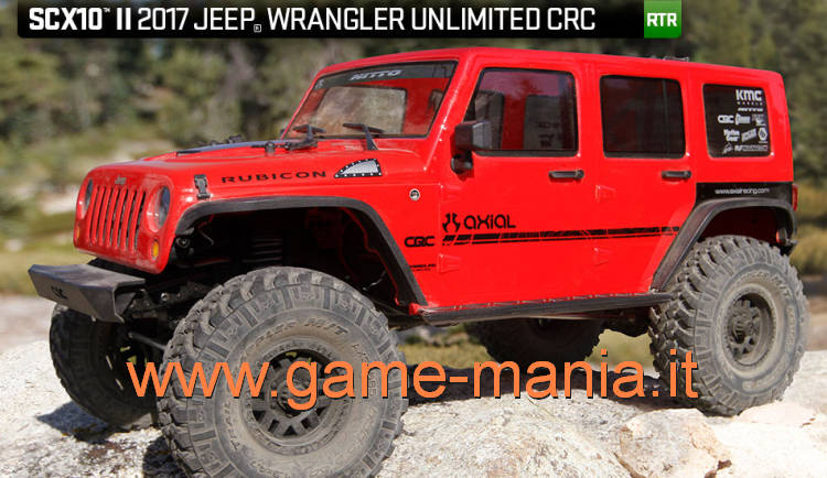 Axial SCX-10 II RTR Jeep Wrangler Unlimited CRC con luci