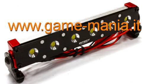 Barra luci tetto T5 a 6 LED IN LEGA ROSSA per scalers by Integy