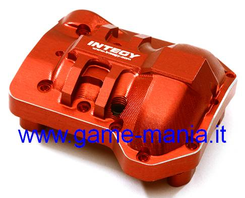 RED anod. alloy axle diff cover for Traxxas TRX-4 by Integy