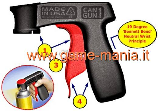 "Impugnatura ""a pistola"" per bombolette spray CAN GUN by Plasti Dip"