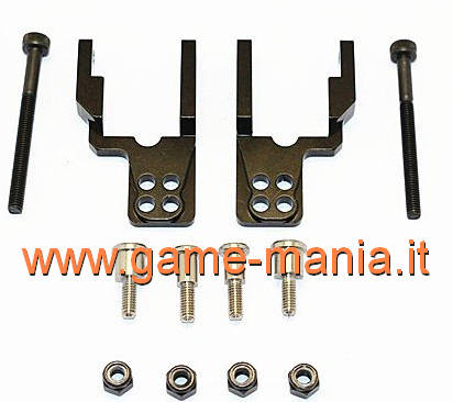 BLACK alloy 4-hole damper support plates for CC-01 axles by GPM