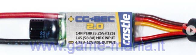 CC BEC v2.0 14A piccolissimo programmabile da 5V a 12V by Castle Creations