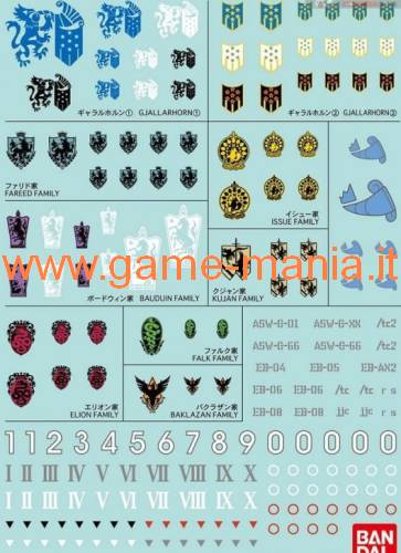 GD-104 decal set serie Iron Blooded Orphans 1:100 1:144 by Bandai