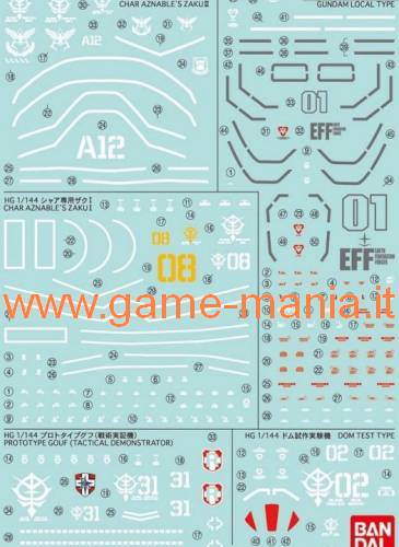 GD-105 decal set serie The Origin 1:144 by Bandai