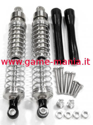 Ammo 105mm (x2) in lega ARGENTO testa metallica + viteria by GPM