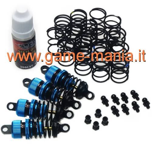 060mm blue aluminum tunable shocks set (4) with spring set by Yeah Racing