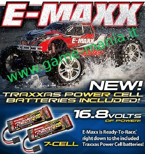 E-Maxx 2.4Ghz - Monster truck elettrico 4WD RTR by Traxxas