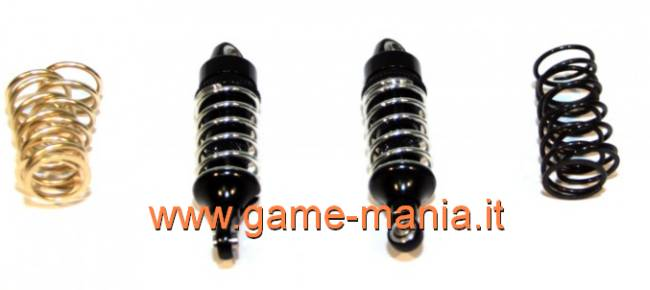 048mm BLACK oil dampers w/alloy threaded body 1/16 E-Revo by GPM
