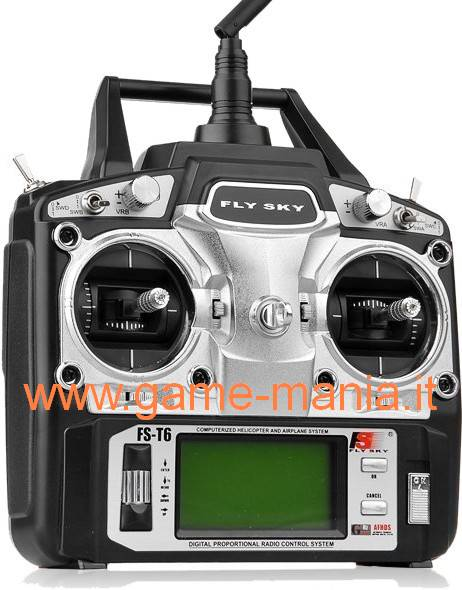 FS-T6 trasmittente a stick 6 canali con display by FlySky