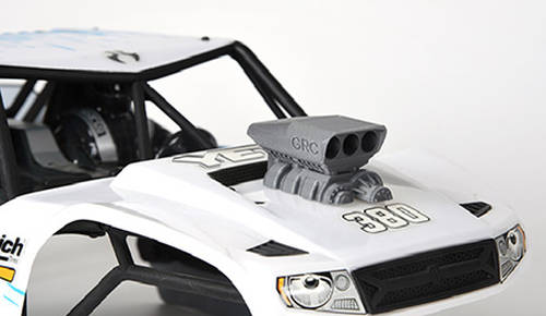 Plastic 1/10 scale intake and blower for model hoods by GRC