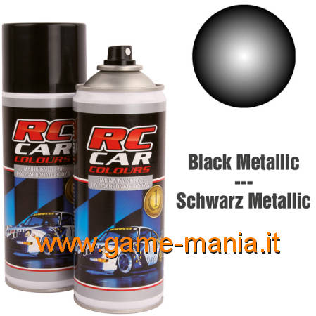 METALLIC BLACK 935 polycarbonate spray paint 150ml by Ghiant