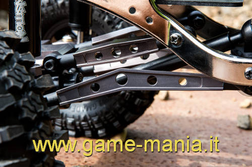 Links inferiori M3 IN LEGA argento lunghi 78mm per Komodo by Gmade