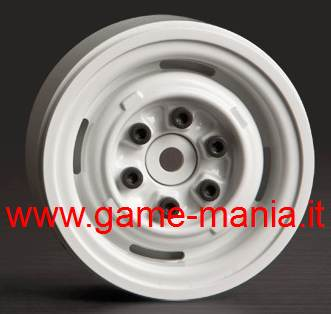 "1.9"" WHITE VR01 rims with real internal beadlock by Gmade (2x)"