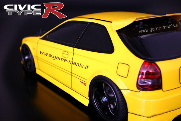 Carrozz. HONDA CIVIC EK9 traspar. con parabole 1:10 by ABC Hobby