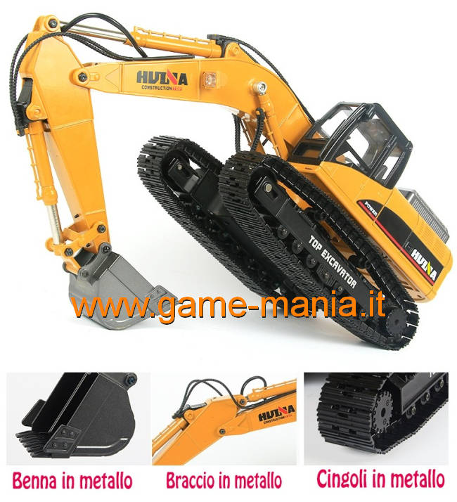 1/14 scale METAL HUINA 580 r/c excavator - MECHANIC