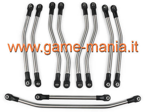 Set di LINKS IN ACCIAIO (10 pezzi) per Axial Wraith by Incision