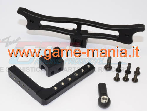 Rear BLACK ALLOY tow hitch for Vaterra Ascender by GPM