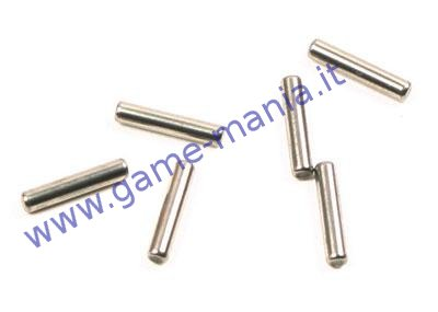 Pins 2.0x10mm (6pz) in acciaio trascinatori ruota by Axial