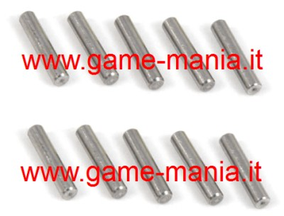 10x steel hex pins 2.0x10mm. by Yeah Racing