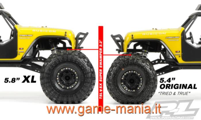 Coppia gomme 2.2 SUPER SWAMPER INTERCO XL con inserti by Pro-Line