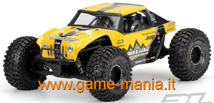 Jeep WRANGLER Rubicon clear body for 1/10 Axial Yeti by Pro-Line