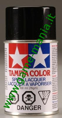 Polycarbonate PS-5 BLACK paint spray can by Tamiya