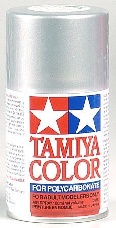 Polycarbonate PS-41 BRIGHT SILVER paint spray can by Tamiya