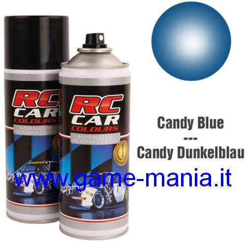 Vernice spray BLU CANDY x policarbonato 150ml by Ghiant